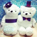 Handmade Customized Wedding Bride and Groom Couple Bears