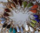 12 Lot New Wholesale Peruvian Genuine Stone EARRINGS