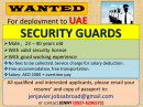 Job Opening: Security Guards for UAE