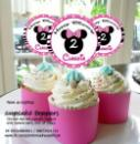 Cupcake toppers, button pin, bagtags, keychains and personalized